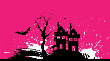 Grunge Halloween Graphic Vector