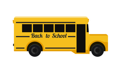School bus flat illustration