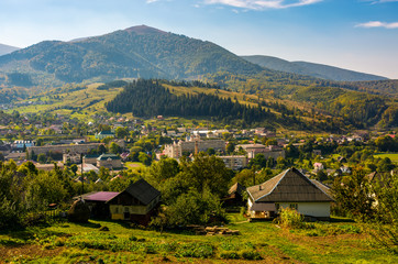 beautiful countryside in transcarpathian mountains