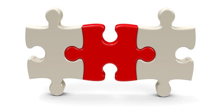 Three puzzle pieces #3