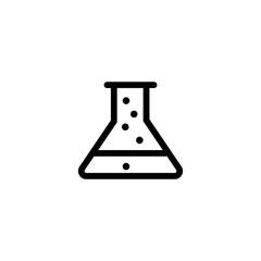 erlenmeyer, flask line black icon