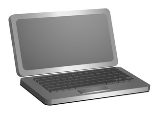 Laptop 3d model for creativity and design