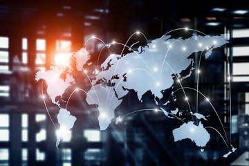 International business partnership. Mixed media