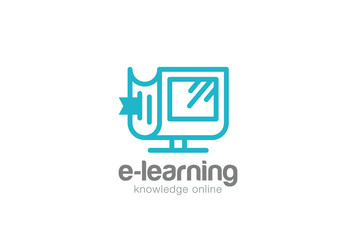 Electronic Book Logo vector. Learning Education Knowledge icon
