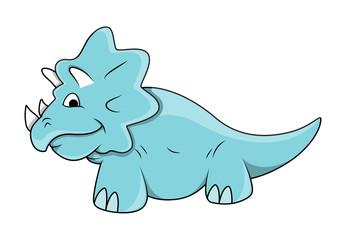 Cartoon Rhino Dinosaur Toy