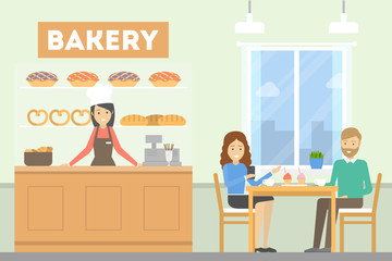People at Bakery.