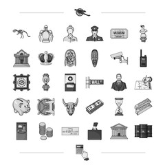 , history, travel, entertainment and other web icon in black style., waste, calculator, hand, icons in set collection.