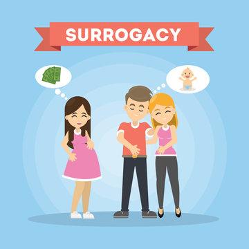 Surrogacy illustration concept.