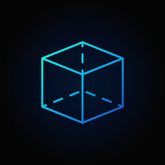 Cube colorful icon