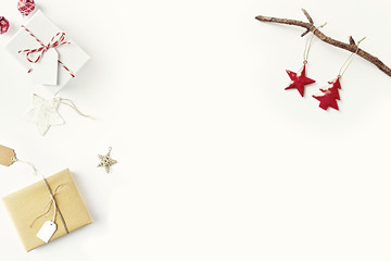 Christmas Gift Boxes and Vintage Decorations