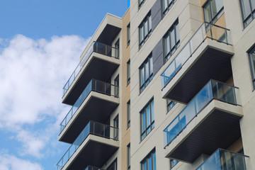 apartment residential building modern architecture condo city skyscraper