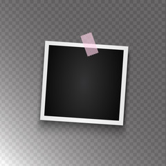 Realistic photo frame on transparent background