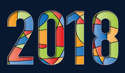 2018 - année - présentation - carte de vœux - artistique - publicitaire