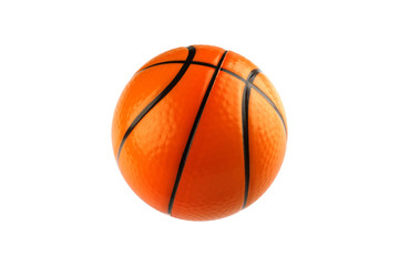 Basketball isolated on white with clipping path
