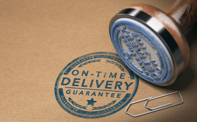 Courier Service, Image of On Time Delivery Guarantee