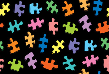 Puzzles. Vector drawing