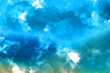 Abstract colorful texture background. Painting style beautiful clouds wallpaper.