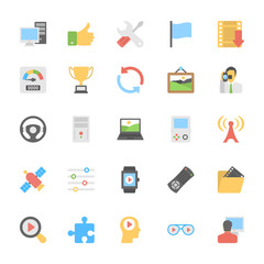 Multimedia Flat Colored Icons 6