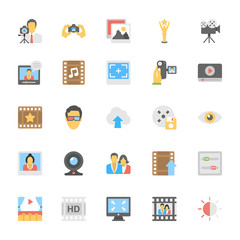 Multimedia Flat Colored Icons 7