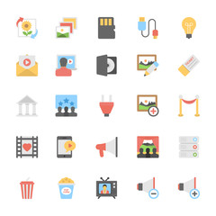 Multimedia Flat Colored Icons 10