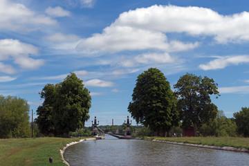 Pont canal de Briare dans le Loiret