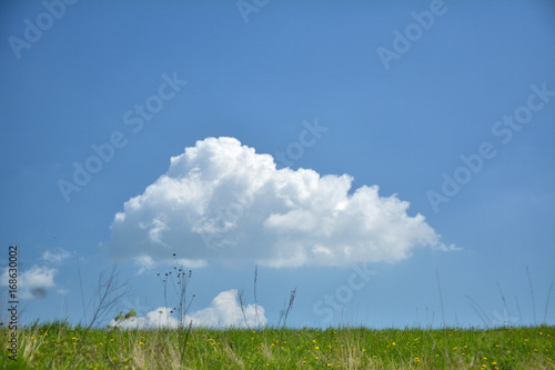 Perfect cloud on blue sky
