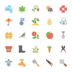 Nature and Ecology Flat Colored Icons 2