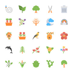 Nature and Ecology Flat Colored Icons 5
