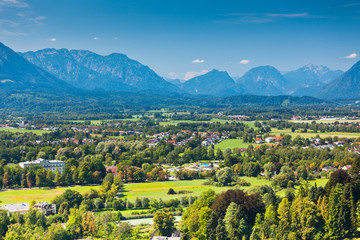 Fotobehang Wijngaard View of Austrian Alps near Salzburg
