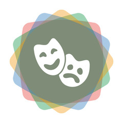 App Icon farbig Theatermasken