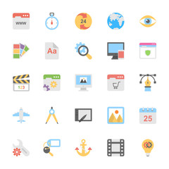 Web Design Flat Colored Icons 1