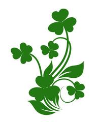 Patrick's Day Clover Leaves Floral Design