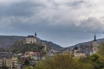 Blick zum oberen Schloss in Greiz
