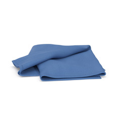 Blue Towel isolated on white. 3D illustration