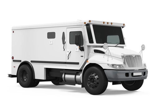 Armored Truck Isolated