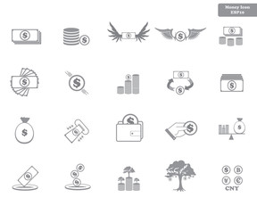 Simple Set Vector Icon. Money Related Color Vector Line Icons. Contains such Icons as Money, Hand, coin, Wallet, ATM,. Editable Stroke. small Pixel.