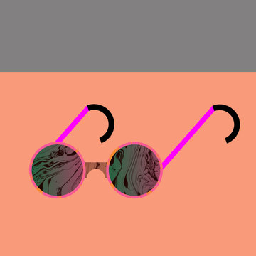 A pair of sunglasses on table
