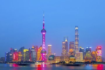 Architectural scenery and skyline of Shanghai