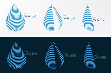 logo water line three style