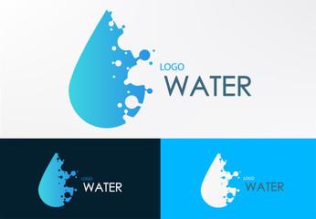 logo water liquid with dot