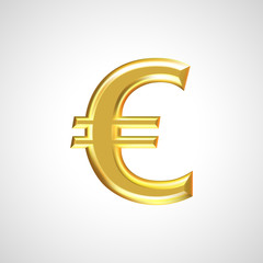 Golden euro sign / symbol