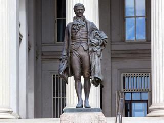 US Treasury Department Alexander Hamilton Statue Washington DC Wall mural