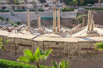 The Roman Amphitheatre and ruins in Alexandria