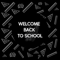 Welcome back to school. Greeting card. Back to school design template. Vector illustration