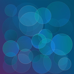 Abstract circles background. Template for design for background. Blue bubbles backdrop