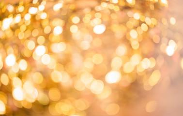 Bokeh Hintergrund golden
