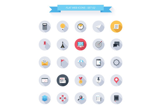 25 Round Tech, Business, and Productivity Icons 1