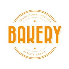 Bakery vintage logo stamp