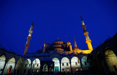 The Ottoman-era Sultanahmet Mosque is pictured in Istanbul