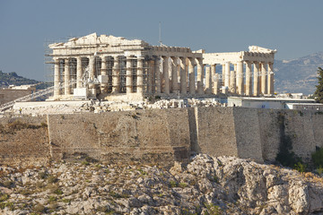 The Parthenon Athens Greece during the day